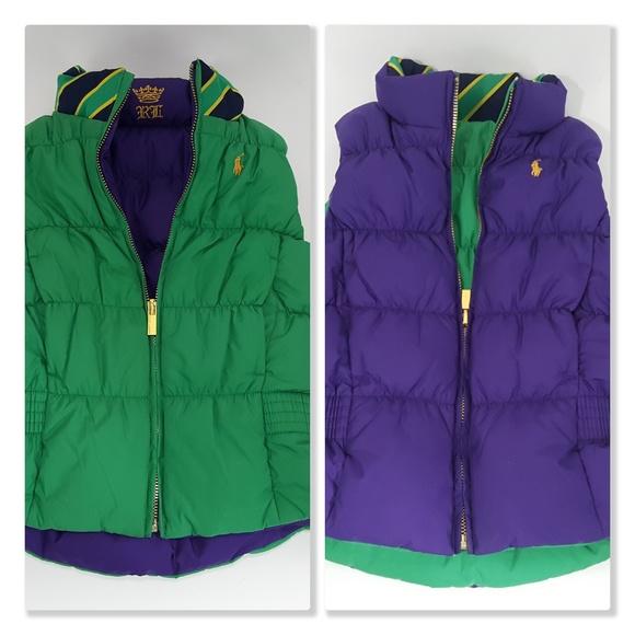 Ralph Lauren 6 Girls Puffer Reversible Down Vest